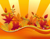 Fall season background — Stock Vector