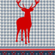 Christmas reindeer seamless pattern — Stock Vector