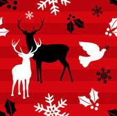 Christmas reindeer pattern background — Stock Vector