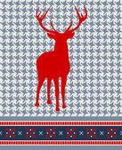 Padrão sem emenda de rena de natal — Vetorial Stock
