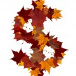 Cash multicolored fall leaf composition isolated — Stock Photo