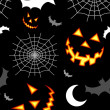 Halloween terror background pattern - Imagen vectorial