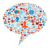 Social media bubble concept — Stock Vector