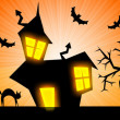 Stock Photo: Halloween nightmare rays banner background