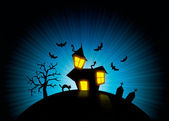 Halloween nightmare world background — Stock Photo