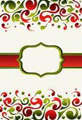 Weihnachten-einladung-hintergrund — Stockvektor