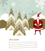 Santa Claus letter. — Stock Vector