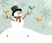 Snowman card — Stock Vector