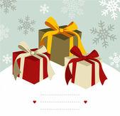 Christmas gifts. — Stock Vector
