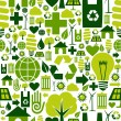 Green environment icons pattern background — Stock Vector #7429739