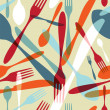 Cutlery transparent silhouette pattern background - ベクター素材ストック