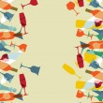 Cocktailkarte Design-Hintergrund — Stockvektor