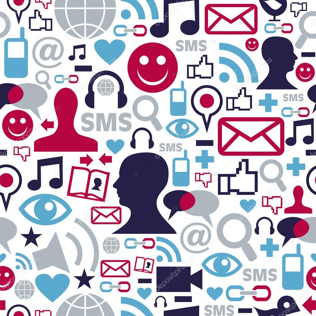 Social media icons wallpaper