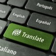 Stock Photo: Online translation service concept