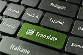 Online translation service concept — Stock Photo