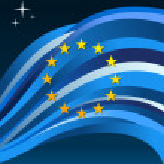 Europeanunion flag illustration background — Stock Vector
