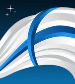 Finland flag illustration background — Stock Vector