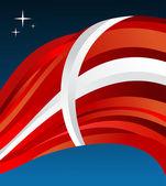Denmark flag illustration background — Stock Vector