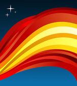Spain flag illustration background — Stock Vector