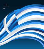 Greece flag illustration background — Stock Vector
