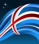Iceland flag illustration background — Stock Vector