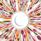 Cutlery restaurant background — Stock Vector