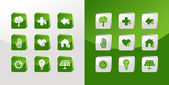 Go Green icons set — Stock Vector