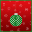Stock Photo: Green christmas ornament