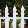 Royalty-Free Stock Photo: White picket fence