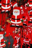 Hanging Santas — Stock Photo