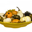 Gourd arrangement — Stock Photo