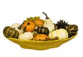 Gourd arrangement — Stock Photo