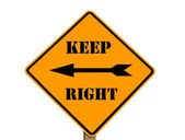 Keep right sign — Stock Photo