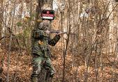 Illegal hunter — Stock Photo