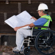 Stock Photo: Handicapped contractor