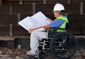 Handicapped contractor — Stock Photo