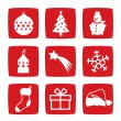 Winter and Christmas icons — Stock Photo