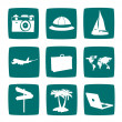 Tourist items icon set — Stock Photo