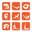 Icons set of yoga postures - Zdjcie stockowe