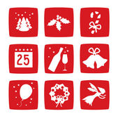 Winter Christmas holidays icons set — Stock Photo