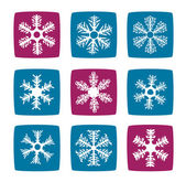Snowflakes icon set — Stock Photo