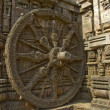 Stock Photo: Stone Wheel of Chariot