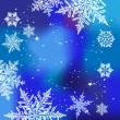 Winter background, snowflakes - vector illustration — Stok Vektör