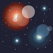 Espaço, fundo de luzes cintilantes — Vetorial Stock