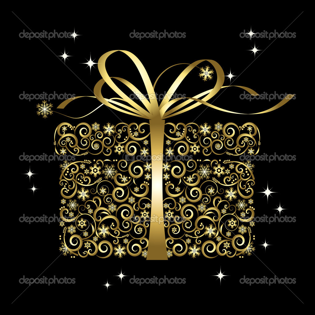 Stylized gift - vector — Stock Vector #7473455