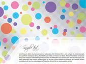 Design de brochura pontilhada de luz — Vetorial Stock