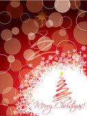 Rote weihnachts-grußkarte-design — Stockvektor