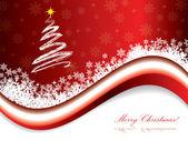 Tarjeta de felicitación de vacaciones de navidad rojo — Vector de stock