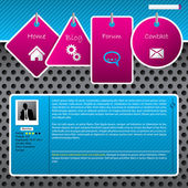 Website template design with dotted background — Stock Vector