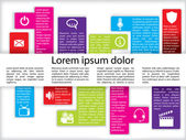 Info graphics with icons — Stock Vector